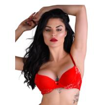 Push-up Bra Lace w Racerback Red