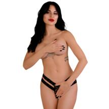 Lucy crotchless thong panty Black