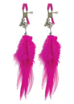 Fancy Feather Nipple Clamps Pink