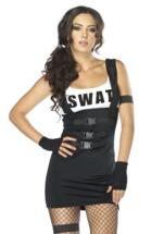 Sultry Swat Officer Black