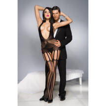 Open Catsuit With Cut-Outs Black