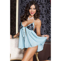 Babydoll With Lace Cups - Turquoise Turquoise